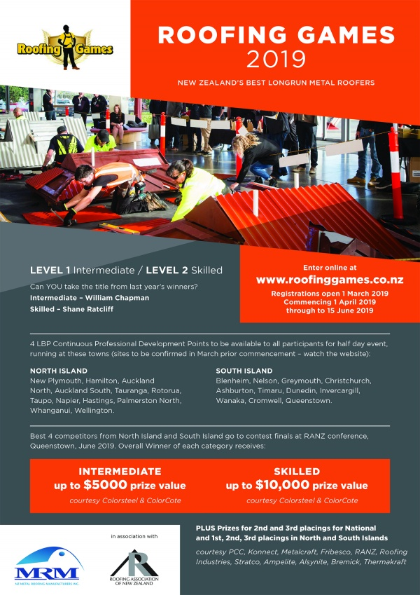 Get ready for the Roofing Games 2019   Alsynite One NZ Ltd